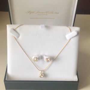 Fifth Avenue Collection earrings & necklace set